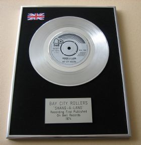 BAY CITY ROLLERS - SHANG-A-LANG Platinum Single presentation Disc